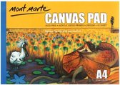 Mont Marte Canvas blok 10st A4 - 280 grams papier - schetsboek