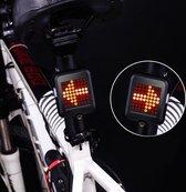 LED Achterlicht met Richtingaanwijzer en Fiets Laser - Afneembaar Fietsverlichting met Sensor - Intelligent Fietslicht - USB Oplaadbaar