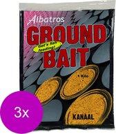 Albatros Groundbait Kanaal&Rivier - Lokvoer - 3 x 1 kg Beige Allround