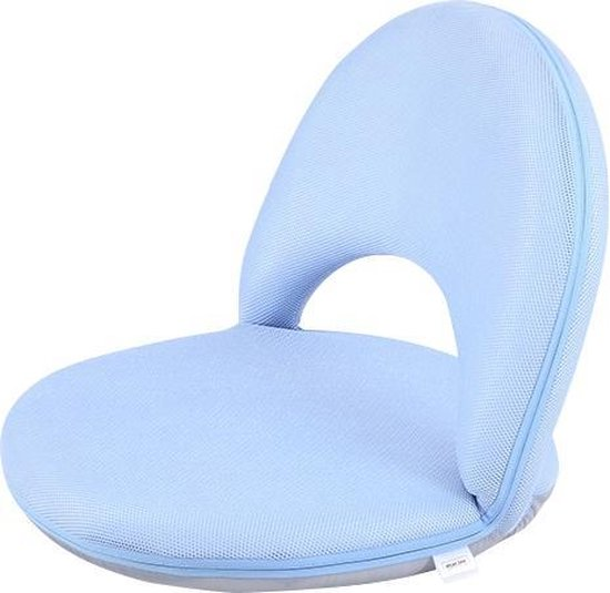 Vloerstoel kleuter - kinderstoel verstelbaar rugleuning blauw MULTIFUNCTIONEEL