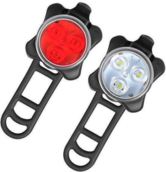 LED Fietsverlichting USB oplaadbaar - 4 modes - Waterbestendig - Fietslicht - Fietslampjes