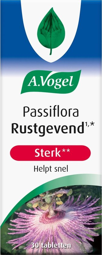 A.Vogel Passiflora Rustgevend Sterk 30 Tabletten