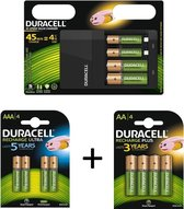 Duracell CEF 14 Hi-Speed Batterij Oplader Inclusief 6 Duracell AA 1300mah en  6 AAA 750 mah