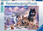 Ravensburger puzzel Wolven in de sneeuw - legpuzzel - 2000 stukjes
