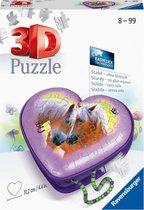 Ravensburger Heart Box Horses -  3D Puzzle - 54 stukjes