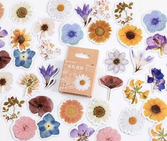 Afbeelding van Set van 46 stickers - Bloemen 2 - Flower sticker