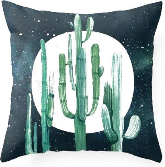 Moodadventures | Kussens | Kussenhoes Moonlight Cactus |45 x 45 cm. met rits