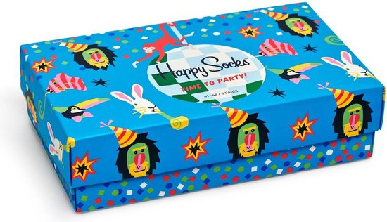 Happy Socks Kids Party Animal Giftbox – Maat 4-6Y