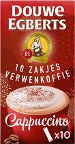 Douwe Egberts Verwenkoffie Cappuccino Oploskoffie - 10 x 10 zakjes