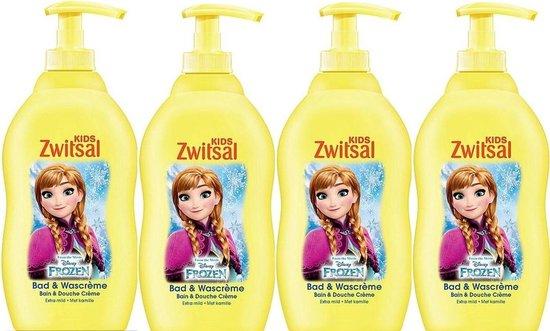 Zwitsal Frozen Kids Bad & Wascrème- 4 x 400 ml Voordeelverpakking