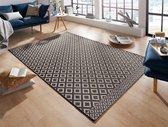 Modern vloerkleed ruiten Avenue - zwart 130x190 cm