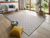 Vlakweef vloerkleed Macrame-Optiek Dawn - grijs 130x190 cm