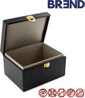 BREND Faraday box - Beschermdoos - Antidiefstal autosleutel beschermbox - RFID beschermhoes - Keyless entry / go sleuteletui - Smart Key etui - signaal blocker - Keyless Entry uitschakelen - Anti-Skim - Zwart