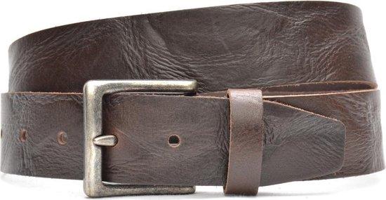 Timbelt 4,5 cm bruine jeans riem 418 – Maat 105 – Totale lengte riem 120 cm