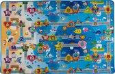 Speeltapijt voor Kinderen - Speelgoedtapijt met Voertuigen - Verkeerskleed