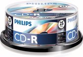 Philips CR7D5NB25 - CD-R 80Min - 700MB - Speed 52x - Spindle - 25 stuks
