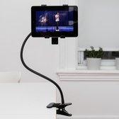 Kikkerland Tablethouder met flexibele standaard - Films kijken - Boeken lezen - 360 graden draaien