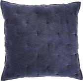 Walra Sierkussen Velvet Touch - 50x50 - 100% Katoen - Blauw
