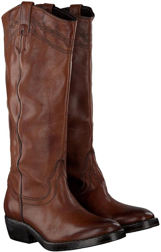Cognac CATARINA MARTINS Cowboy boots NOMAD HIGH EMBROIDERY