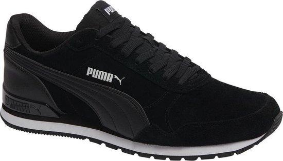 PUMA ST Runner v2 SD Sneakers Unisex - Puma Black-Puma Black - Maat 45
