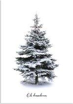 DesignClaud Oh Denneboom kerstboom poster - Kerst poster - Kerstboom A4 poster (21x29,7cm)