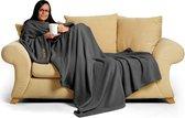 Slate Grey Snug-Rug DELUXE Deken met mouwen