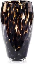 Design vaas Oval - Fidrio LEPPARD - glas, mondgeblazen - hoogte 30 cm
