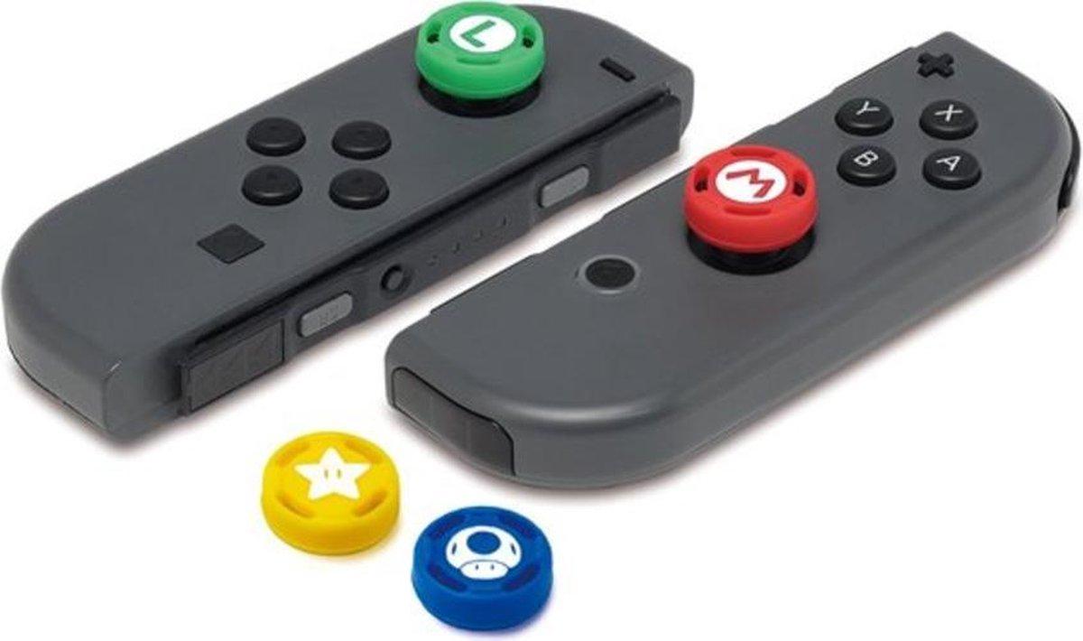 4 x Thumb grips Mario & Luigi - Thumb grips Nintendo Switch - Mario Kart - Super Mario - Mario Thumb