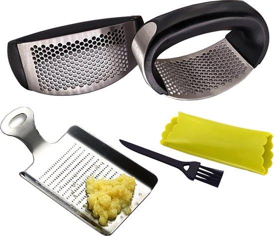 Knoflookpers en Gemberrasp - RVS - Mister Mill Kitchen