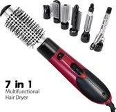 Fullcome Fohnborstel - Haarborstel - 7 in 1 Borstel - Stijltang - Haardroger - Haarborstel - Krultang - Föhn - Ieder Haartype - 3 Temperatuurstanden - Ergonomisch Handvat