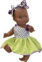 Paola reina Gordi babypop donker meisje gekleed 34 cm