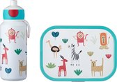 Mepal Campus Lunchset - pop-up drinkfles en lunchbox - Animal Friends