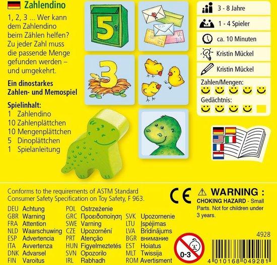 Thumbnail van een extra afbeelding van het spel Supermini Spiel - Zahlendino (Duits) = Frans 5475 - Nederlands 5493