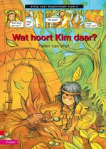 Strip voor beginnende lezer - Wat hoort Kim daar?