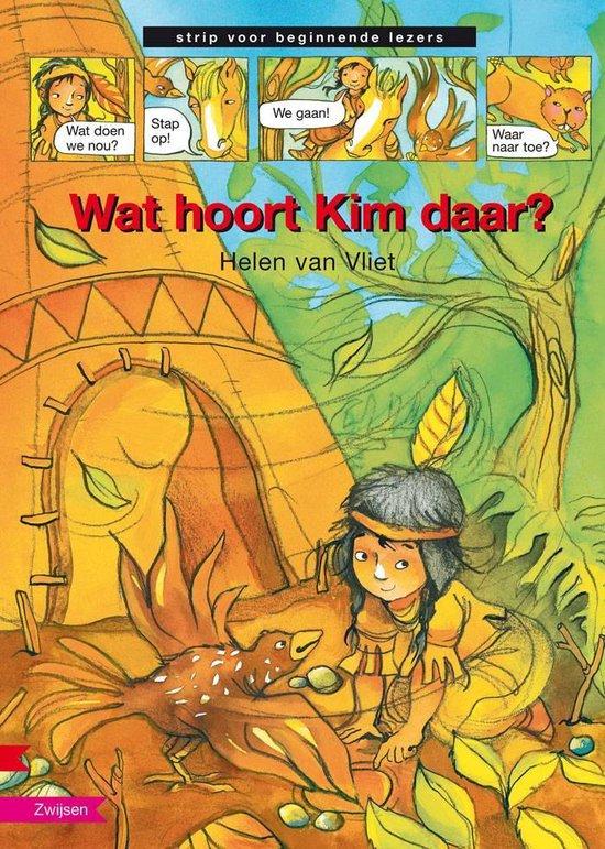 Strip voor beginnende lezer - Wat hoort Kim daar? - Helen van Vliet  