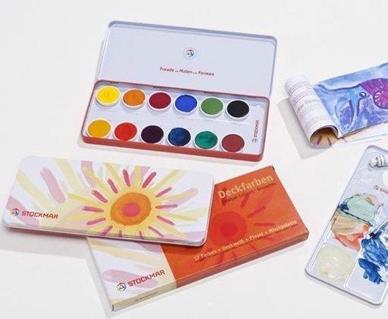 Afbeelding van het spel Stockmar Plakkaatverfset 12 kleuren (EN-NL-IT)