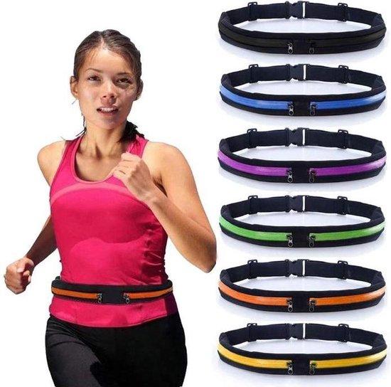 Running Belt - Hardloopband - Sportband - Hardloop Riem Met 2 Uitbreidbare Houder voor Smartphone tot 6.5 Inch