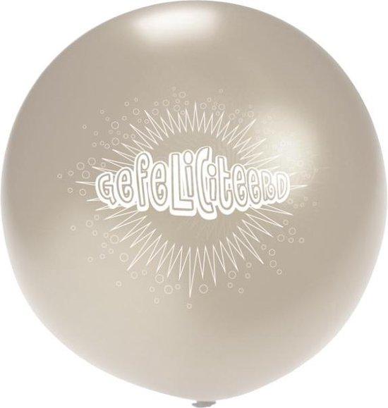 Megaballon transparant gefeliciteerd 36 inch (Ø 90cm)