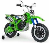 Injusa Accuvoertuig Motorfiets Cross Kawasaki 12 V 115 Cm Groen