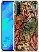 Huawei Nova 5T Hoesje Abstract colorful