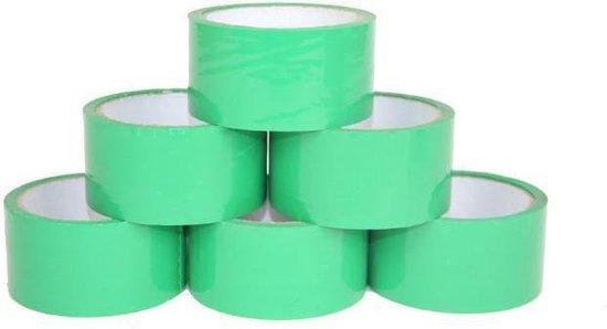 Verpakkingstape Eco Solvent 48mm x 50 meter - groen - 36 stuks