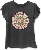 The Beatles Dames Tshirt -L- Sgt Pepper Zwart