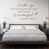 Slaapkamer muursticker Wake up every morning - Zwart | Muurstickers slaapkamer | Stickers muur | Muursticker tekst | Topkwaliteit!