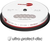 Primeon 2761314 Blu-Ray Bd-Re Disc 25 Gb 10 Stuks Spindel Antikras-Coating