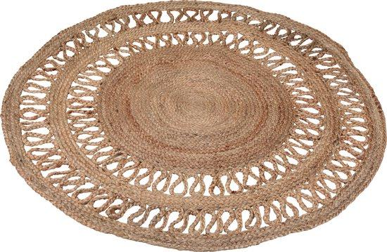 Tapijt rond 120 cm gevlochten jute - vloerkleed - vloerkleden -prachtig jute ronde tapijt - bohemien stijl
