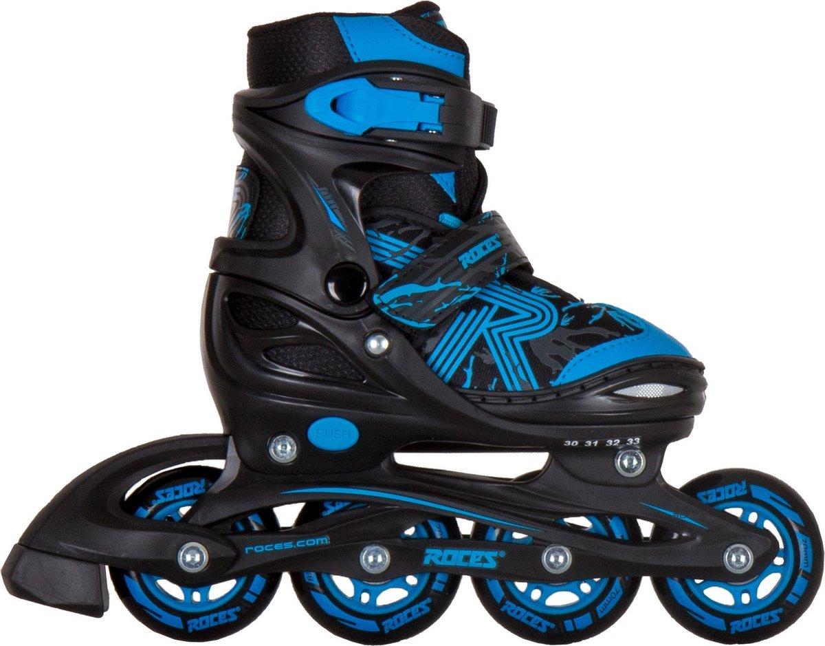Roces Jokey 3.0 Inlineskates - Maat 26-29 - Unisex - zwart/blauw