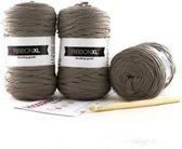 Garenpakket DIY Hoooked RibbonXL Haakpakket Mandala Vloerkleed Taupe