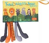 """Tumama® Knisperboekje Baby Boekjes Eerste Jaar """"Geel"""" Voelboekje Dieren Staarten Boekje - Educatief Stoffen Leer Boek Speelgoed Voelboekje 1 Kinderen - Cadeau"""