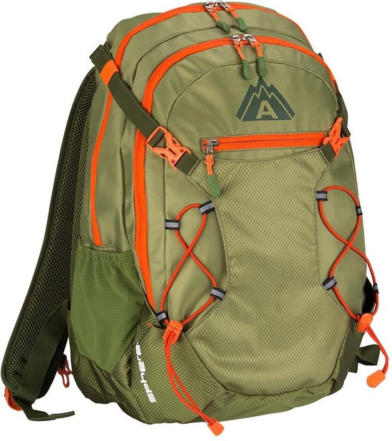 Abbey Backpack -Rugzak - groen/oranje