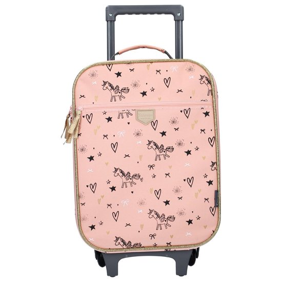 Kidzroom Fearless Pink Reiskoffer - 40x30x14 cm - Roze